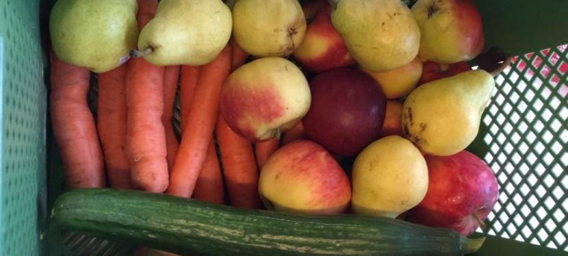 Obst- und Gemüsekiste.